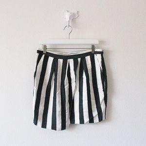 TLC Zara Basic Striped Faux Wrap Skirt